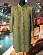 oliver bonas sukienka khaki krzyżyki nowa insta 36