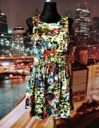joe browns sukienka rozkloszowana kwiaty floral nowa 40 L