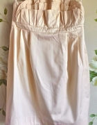 Sukienka H&M Conscious Collection garden pudrowy r...