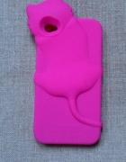 Nowe etui case iPhone 4 4S kot kotek róż różowe si...