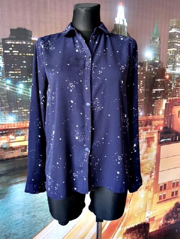 primark koszula jak nowa granatowa wzór gwiazdy gwiazdki 36 S
