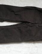 Sztruksowe spodnie brązowe 92...