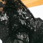 Czarny koronkowy stanik miękki vintage retro