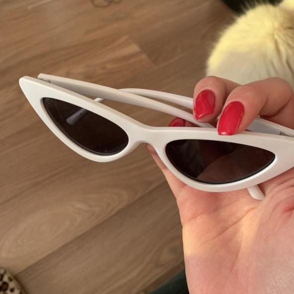 Okulary kocie oko białe