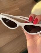 Okulary kocie oko białe...