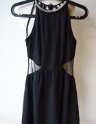 Sukienka Czarna Sexy Bershka XS 34 Siateczka Modna...