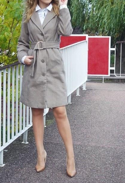 płaszcz camel pasek XS 34