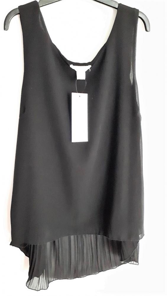 Amisu Nowa bluzka plisowana dłuższy tył S