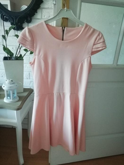 Suknie i sukienki sukienka rozkloszowana pudrowa pastelowa s
