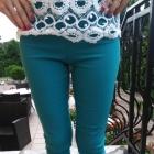 spodnie rurki s wysoki stan