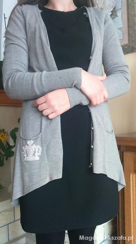 Swetry Brązowy sweterek na guziczki