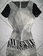 NEXT czarna biała sukienka tunika roz 36...
