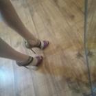 Szpilki wysokie sandały na obcasie długość wkładki 28 cm Sergio Todzi