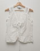 Biała koszulka bluzeczka retro vintage pastereczka wiązana...