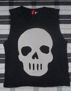 HM czaszka koszulka czarna bezrękawnik XS S