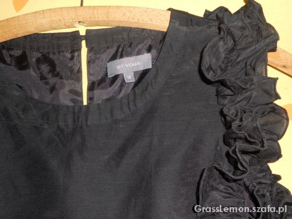 Czarna elegancka bluzka rozmiar M
