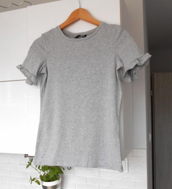 Koszulki Dorothy Perkins szara koszulka falbanki