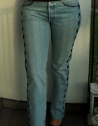 jeansy Levis 501 wiązania motor...