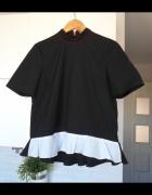 Zara nowa bluzka klasyka falbanki baskinka prążki...