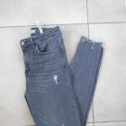 Zara szare rurki dziury ripped destroyed skinny slim