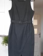 Dorothy Perkins szara sukienka ołówkowa z paskiem...