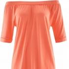 Pomarańczowa luźna bluzka shirt