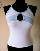 Okazja Bluzka top koszulka wycięcie dekolt ramiączka skrzyżowane na plecach S