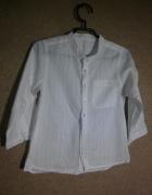 Kremowa elegancka bluzka tunika ze stójką 110 1...