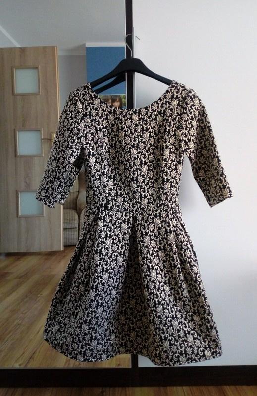 Złota żakardowa sukienka rozmiar 34
