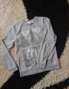Szara bluza z długim rękawem M