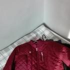 Stradivarius bordowa pikowana kurtka