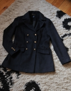 Płaszcz jesień zima FF r 44 granatowy