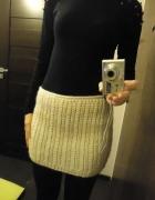 Ciepła zimowa spódnica mini WARKOCZE S M 36 38