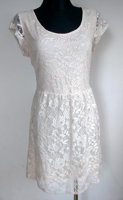 Dorothy Perkins ecru sukienka koronka L XL