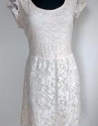 Dorothy Perkins ecru sukienka koronka L XL...