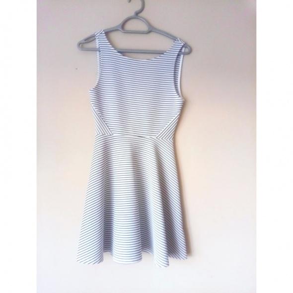 Sukienka w paski h&m