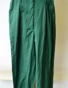 Spodnie Zielone H&M XS 34 Eleganckie Wyższy Stan...