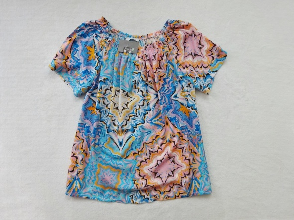 NOWA kolorowa wzorzysta zwiewna bluzka 40 L