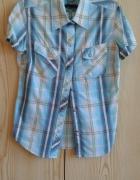 Niebieska koszula w kratę XS 34