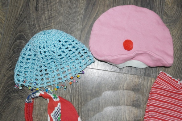 Opaska beret czapeczki chustka dla dziewczynki