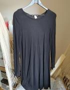 Luźna sukienka S 36 bawełniana prosta basic czarna klasyczna H&...