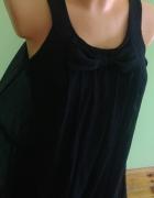 Sukienka czarna kokardka lejąca oversize...