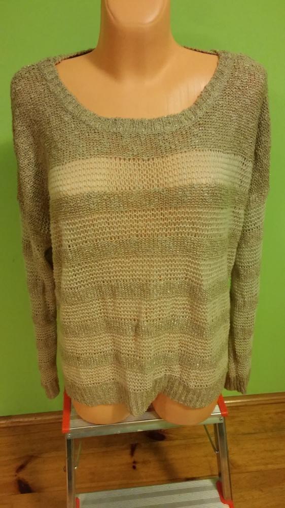 Sweterek paski oversize...