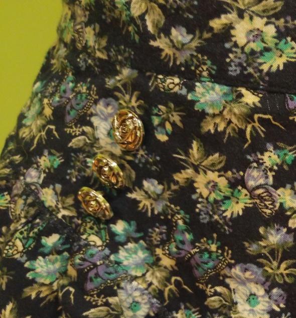 Spodenki Krótkie spodenki w kwiaty wysokm stanem szorty flo