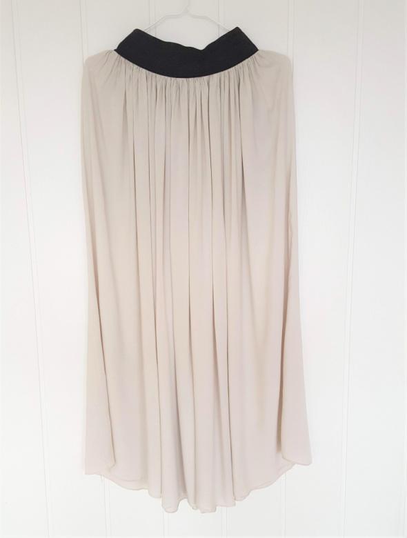 Długa spódnica maxi L XL 40 42 ciepła szara zwiewna lekka wisko...