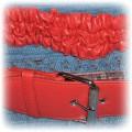 Piękny pasek w kolorze czerwieni strażackiej
