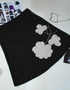Spódnica VERO MODA trapez pop art kwiat S...
