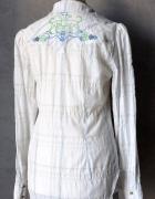 Koszula GESTUZ kratka haft dłuższa tunika krata S...
