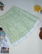 Spódnica ESPRIT kwiaty zieleń floral boho 36