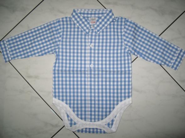 NEXT body koszula w kratkę pajacyk 80cm